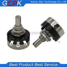 Potenciómetro giratorio de película de giro, accesorio RV24YN20S 1K 2K 5K 10K 20K 50K 100K 200K 500K 1M ohm, 2 uds.