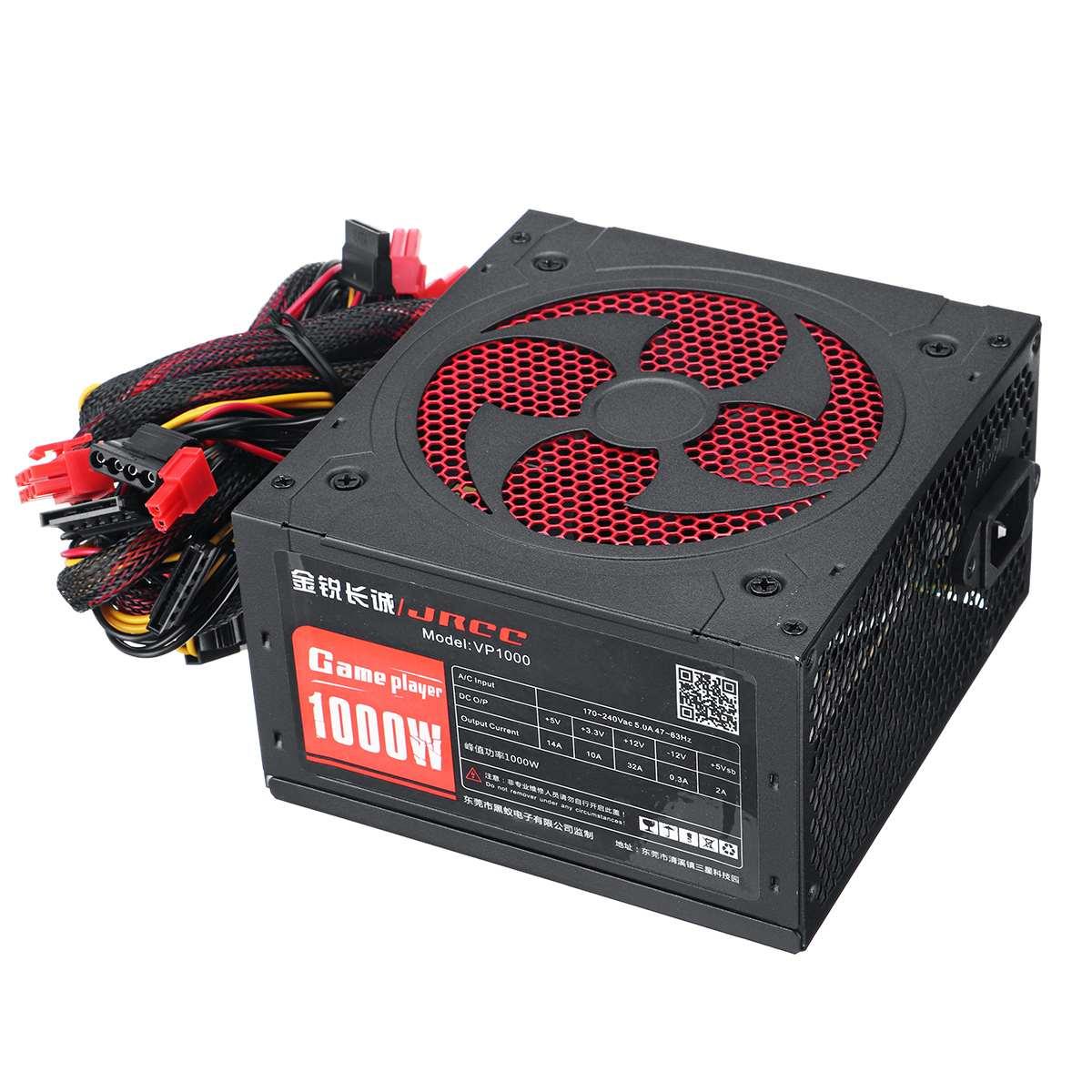 جديد 1000 واط امدادات الطاقة PFC مروحة كاتمة للصوت ATX 20pin 12 فولت جهاز كمبيوتر شخصي SATA الألعاب الكمبيوتر امدادات الطاقة للكمبيوتر إنتل AMD