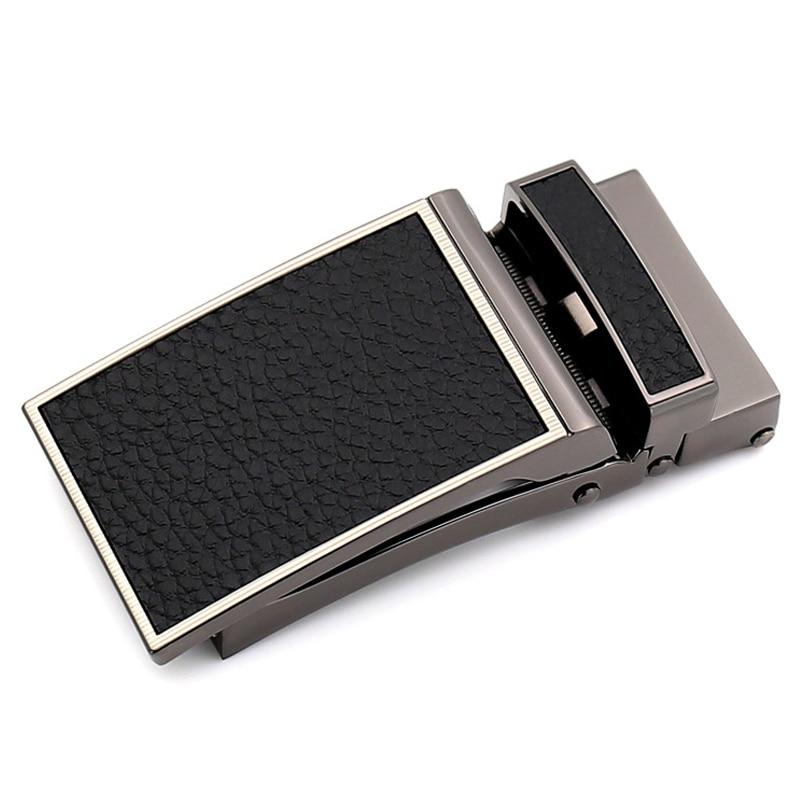 Men's belt buckle business belt buckle automatic buckle belt buckle for 3 cm belt black brown 110cm to 130cm length adjustable