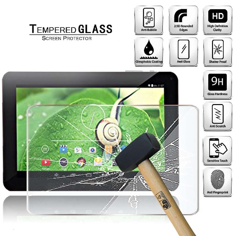 Tablet Tempered Glass Screen Protector Cover for Irulu EXpro X1a 9 Inch Anti-Scratch Tablet Computer Tempered Film