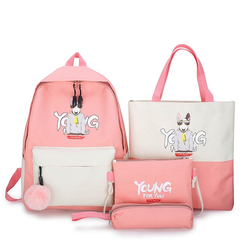 Ins Hong Kong Wind Bag Korean Harajuku ulzzang College Backpack Tide Brand Simple Backpack for Female High School Students
