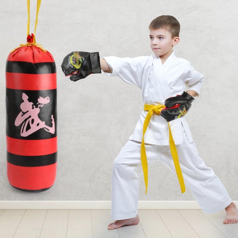 Детские Боксерские перчатки детские спортивные обучающие игры для детей декомпрессионные уличные спортивные боксерские Игрушки для мальч...