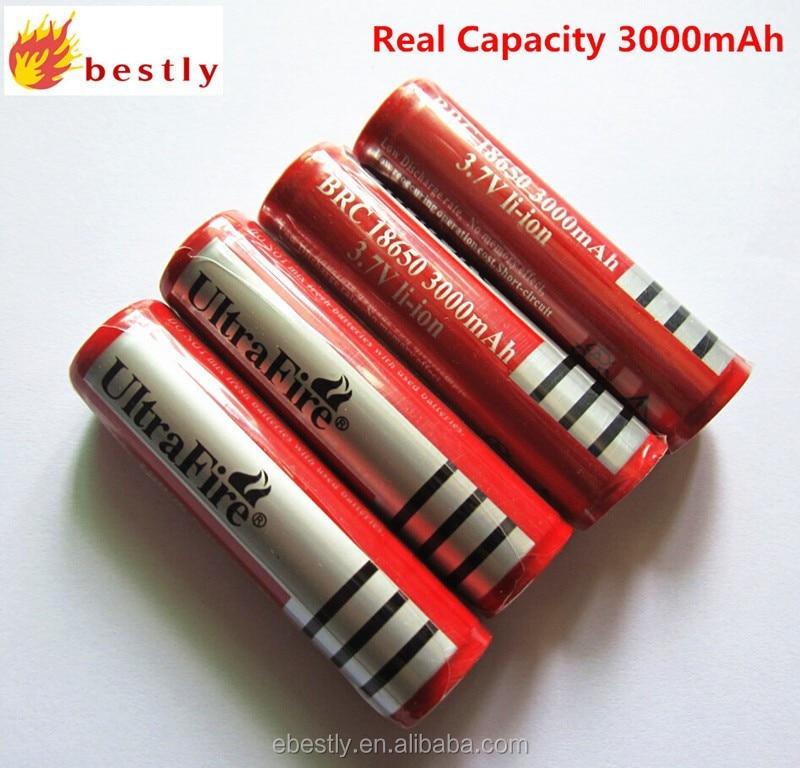 حار مبيعات السفينة حرة! 10 قطعة/الوحدة Ultrafire 18650 قابلة للشحن بطارية ليثيوم أيون 3.7 فولت 3000 مللي أمبير