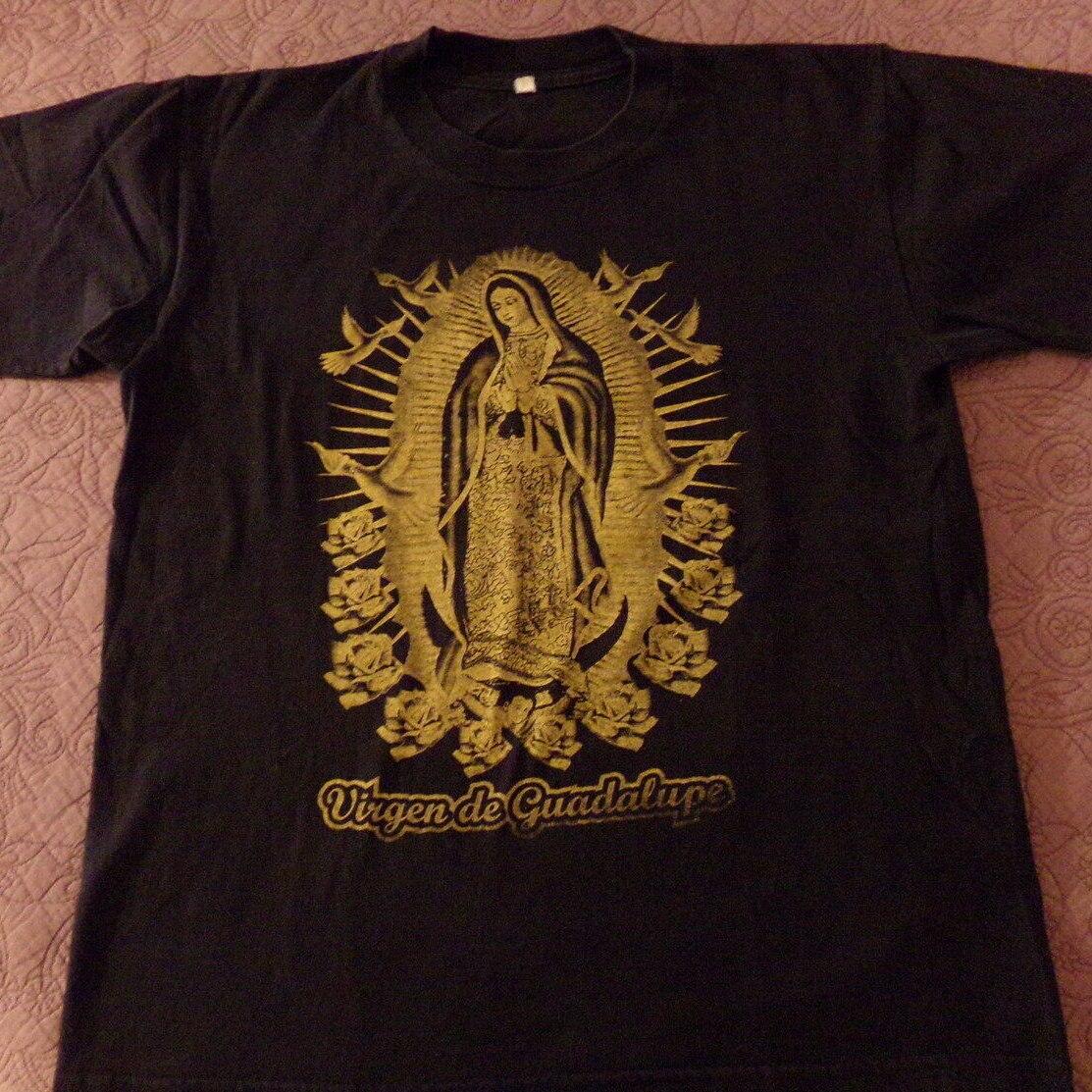 Camiseta para hombre con gráfico De dos caras De la Virgen De Guadalupe, camiseta De regalo para hombre, camiseta a la moda