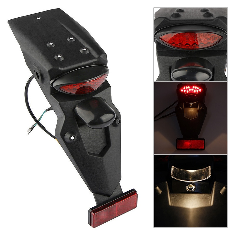 1pc motorcycle accessories 1pc Universal Motorcycle Rear Fender Mudguard LED Brake Tail Light Motorbike Replacement Accessories For Honda