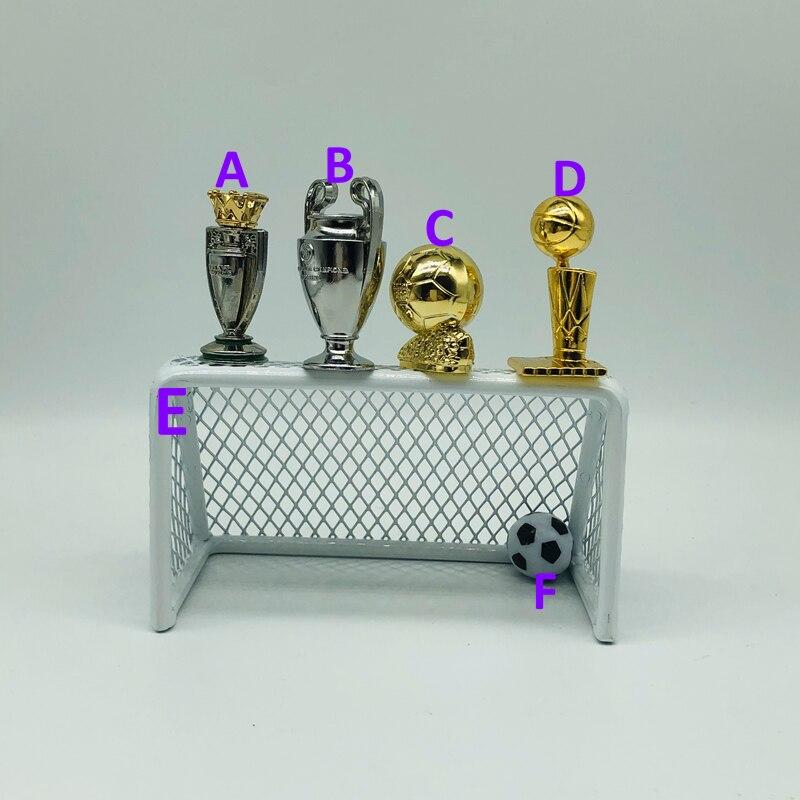 Fútbol y baloncesto muñeca objetivo mini 3-5 cm de altura de aleación de Metal ABS Bola de fútbol de mesa trofeo regalo de colección