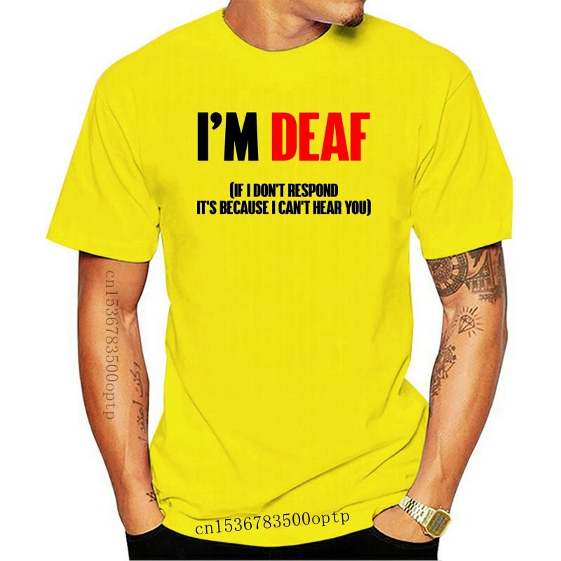 New I am deaf T shirt sign language deaf deafness asl american sign language nyle dimarco hearing loss disability
