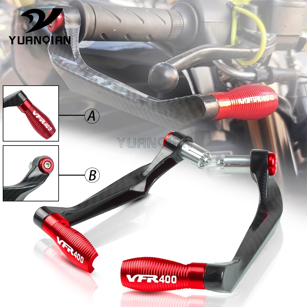 motorcycle 7 8 22mm lever guard handlebar grips guard brake clutch levers protector moto accessories for honda cb400 1992 1998 FOR HONDA VFR400 VFR 400 NC30 Motorcycle 7/8 22mm Handlebar Grips Guard Brake Clutch Levers Protector Guard 1989-1992 1991 1990