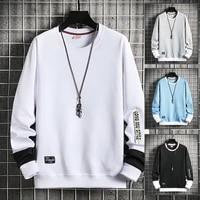 hip hop men casual crewneck sweatshirts hoodie long sleeve man oversize tops fashion harajuku style male sweatshirt streetwear