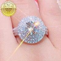 18k goldr ring 2ct d vvs moissanite ring engagementwedding jewellery with certificate 0062