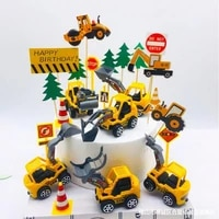 engineering car party cake decor digging machine party crane party baby shower one 1st birthday party boys birthday party decor