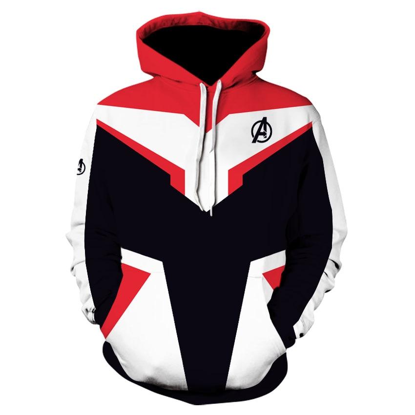 Avengers 4 Endgame Quantum Realm Cosplay Costume Hoodies Marvel Hooded  men clothes 2019 Avengers End Game Sweatshirt