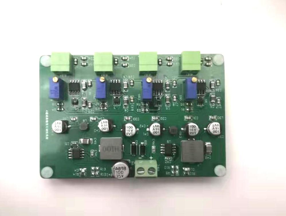 مصدر تيار مستمر ، دقة عالية ، استقرار ، 4 قنوات ، دقة قابلة للتعديل 50uA إلى 12mA
