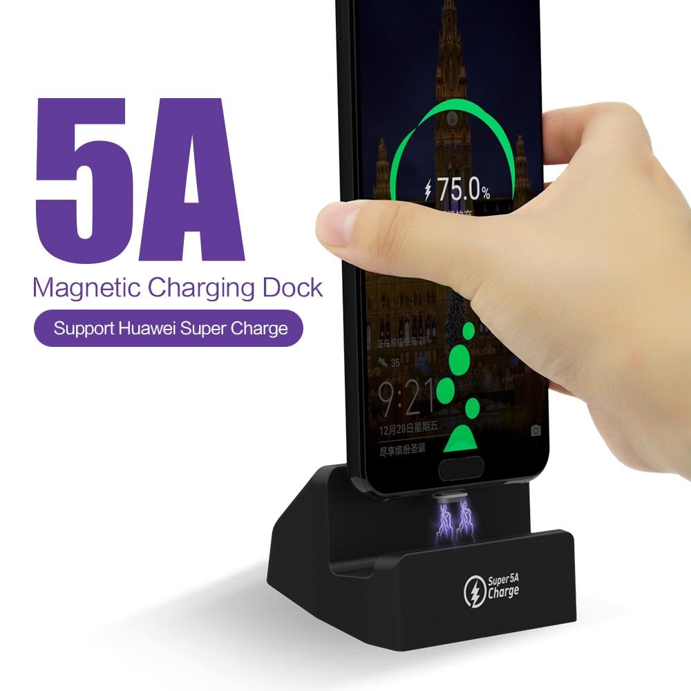 Магнитный зарядный док-станция SIKAI 10th Gen 3 в 1, USB C, Android, IOS, usb-кабель для iPhone, samsung, huawei, 3A, 5A, быстрая зарядка