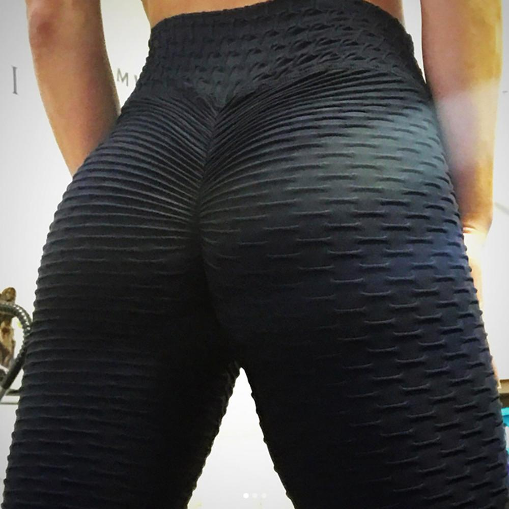 New Solid  Push Up Leggings Women Fitness Clothing High Waist Pants Female Workout Breathable Skinny Black Leggings