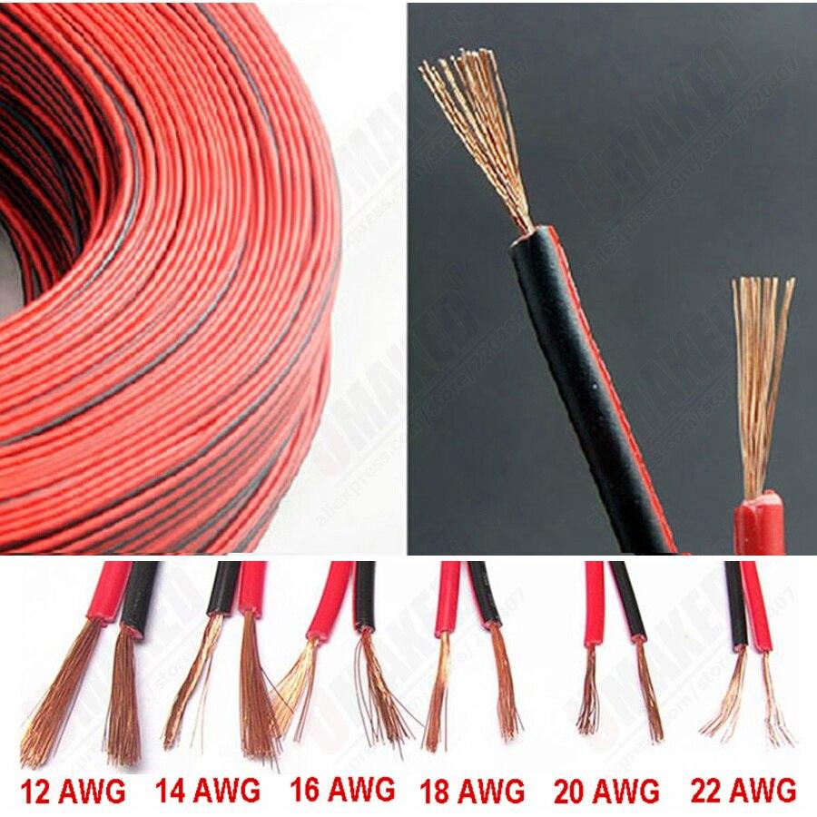 Cable De Goma De Cobre Eléctrico Para Coche Cable De Audio Para Coche 16 18 20 22awg 2 Pines Rojo Y Negro Cable De Altavoz Para Coche Cable Extension Cable Cable Reelcable Knit Sweater