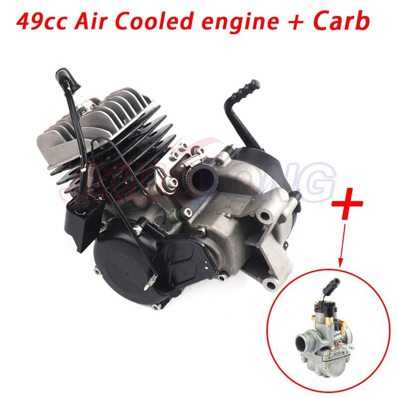 49CC تبريد الهواء المحرك + المكربن ل 50 SX 50 SX برو كبار الترابية حفرة عبر الدراجة