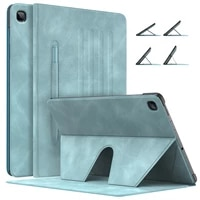 tablet case for galaxy tab s6 lite 2020slim smart cover shell case with auto wakesleeppen holder multi angle stand s6 lite