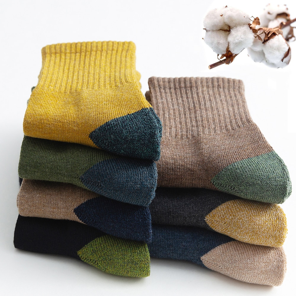 2021 New Japanese Harajuku Socks Winter Warm Men's Socks Thicke Terry Breathable High Quality Casual Business Socks Cotton Male