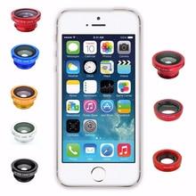 Fish Eye Lens 3-In-1 Wide Angle Macro Fisheye Lens Camera Kits Mobile Phone Fish Eye Lenses With Cli