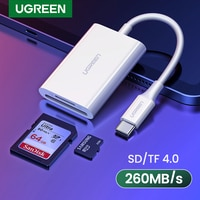 Устройство для чтения карт памяти UGREEN, USB Type C, SD, TF, Micro SD