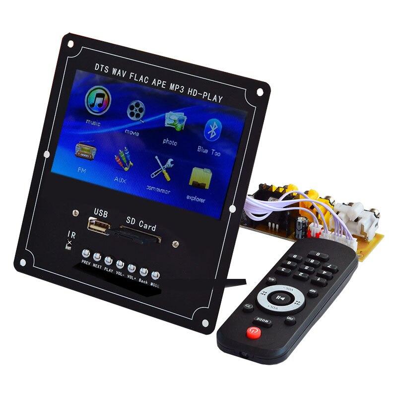4,3 zoll LCD Display DTS MP4 MP5 Audio Video Player Decoder Verlustfreie Drahtlose Bluetooth Modul Unterstützung U Festplatte Sd-karte