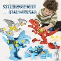 children dinosaur toy construction boy set educational designer montessori model disassembly assembly puzzle toys for kid