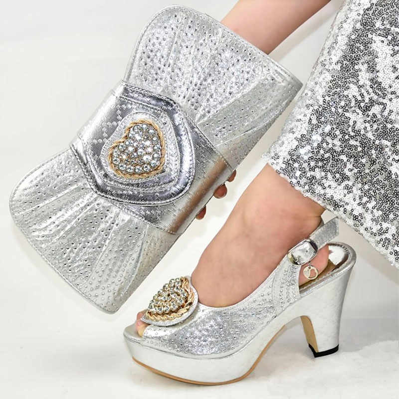 Nueva llegada italiano en conjunto de zapatos y bolso para mujer para fiesta en mujeres nigerianas zapatos y bolsos de diseñador de zapatos de mujer de lujo 2019