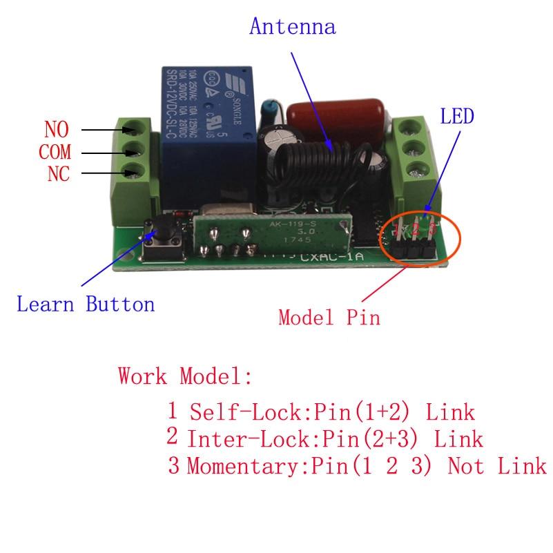 Sleeplion 220V 10A 4 Way Remote Wireless Switches Universal Remote Control Light Wireless Switch 220V 433MHz 315MHz 4 Receiver