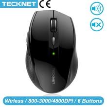 TeckNet Alpha souris ergonomique 2.4GHz souris sans fil bouton silencieux avec USB Nano récepteur pour ordinateur portable 3000/2000/1600/1200