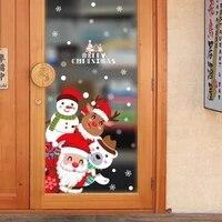 Autocollants muraux pour nouvel an   Decoration de fenetre de noel  pour la maison pere noel  stickers muraux en PVC et en vinyle  decoration de maison a la mode  2020