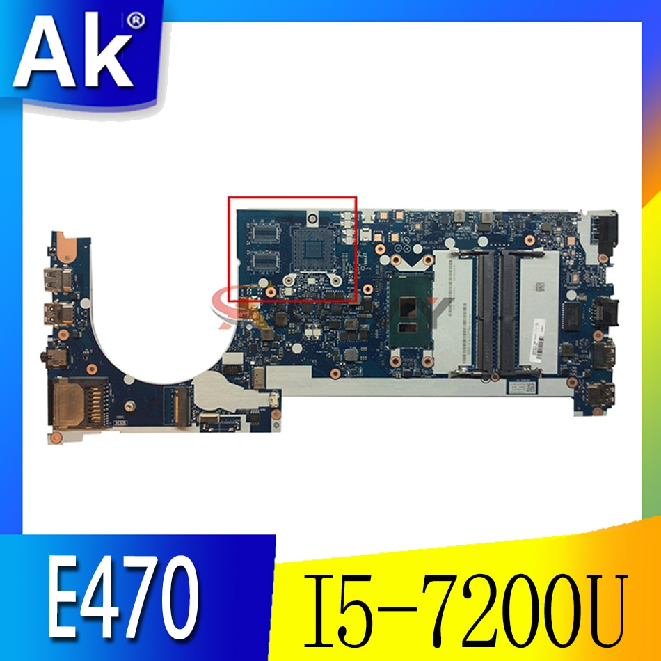 Akemy CE470 NM-A821 مناسبة لينوفو ثينك باد E470 E470C دفتر اللوحة 01EN250 CPU I5 7200U DDR4 100% اختبار العمل