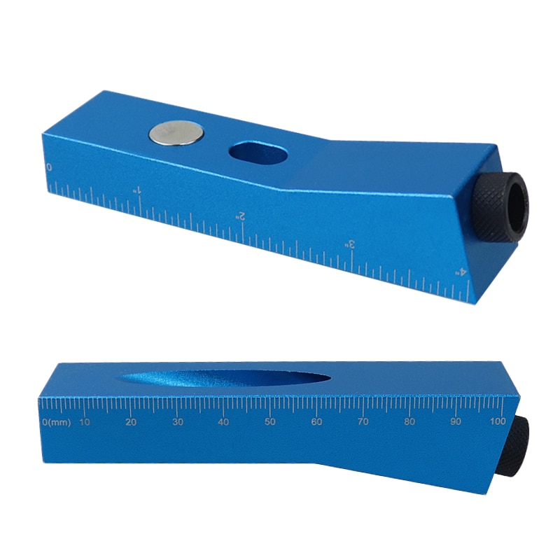 Mini Pocket Hole Jig Kit Single Hole Doweling Jig 15 Degree Bevel Angle Drill Guide Hole Puncher Household DIY Woodworking Tools