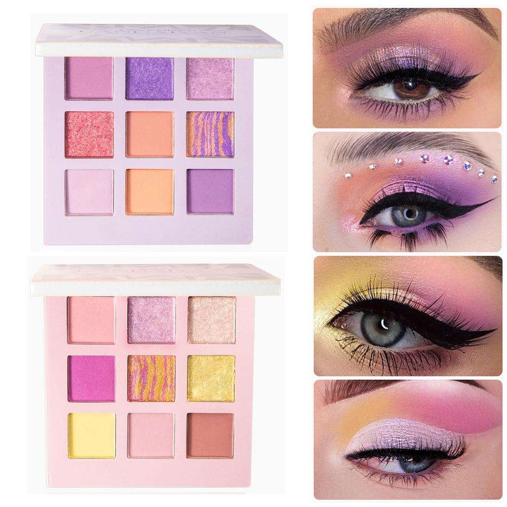 Mode paillettes fard à paupières Palette holographique miroitant mat fard à paupières naturel longue durée étanche femmes maquillage des yeux cosmétiques
