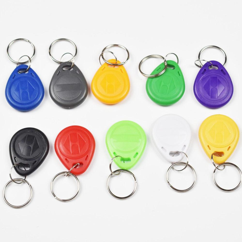 10pcs EM4305 Copy Rewritable Writable Rewrite Duplicate RFID Tag Proximity ID Token Key Keyfobs Ring 125Khz Card Access em4305 t5577 duplicator copy 125khz rfid card proximity rewritable writable copiable clone duplicate access control accessori
