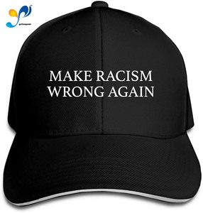 Splash Brothers Customized Unisex Make Racism Wrong Again Trucker Baseball Cap Adjustable Peaked Sandwich Hat