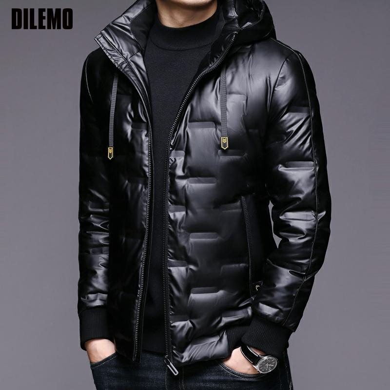 2021 High Quality Winter New Brand Casual Fashion Shiny Bubble Quilted Coat Men Windbreaker Jacket Puffer Coats Men Clothing