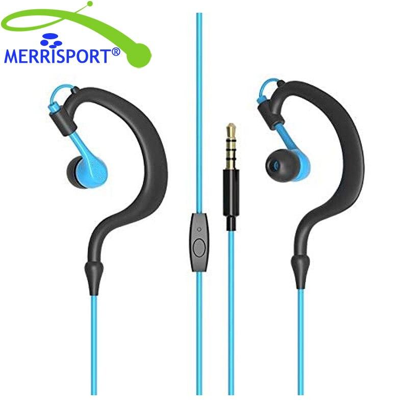 Acessórios móveis fones de ouvido & fones de ouvido merrisport r02 elegante à prova dipágua ipx5 10mm alto-falante ergonômico com fio gancho fone de ouvido
