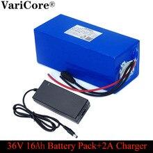 VariCore 36V 16ah 18650 lityum pil paketi ve bms koruma 16000mAh yedek güç kaynağı 42V 2A şarj cihazı
