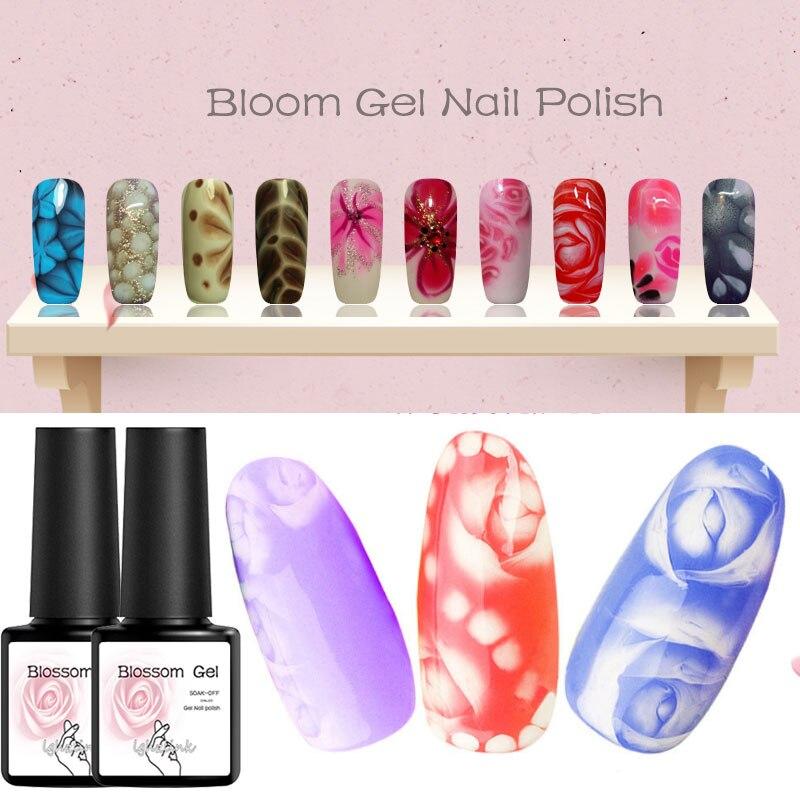 Transparent Nagel Farbe Blossom Gel Nail art DIY Magie Blume Blühenden Wirkung Gel Tränken weg UV Nagel Kleber Ziehen gel Lack