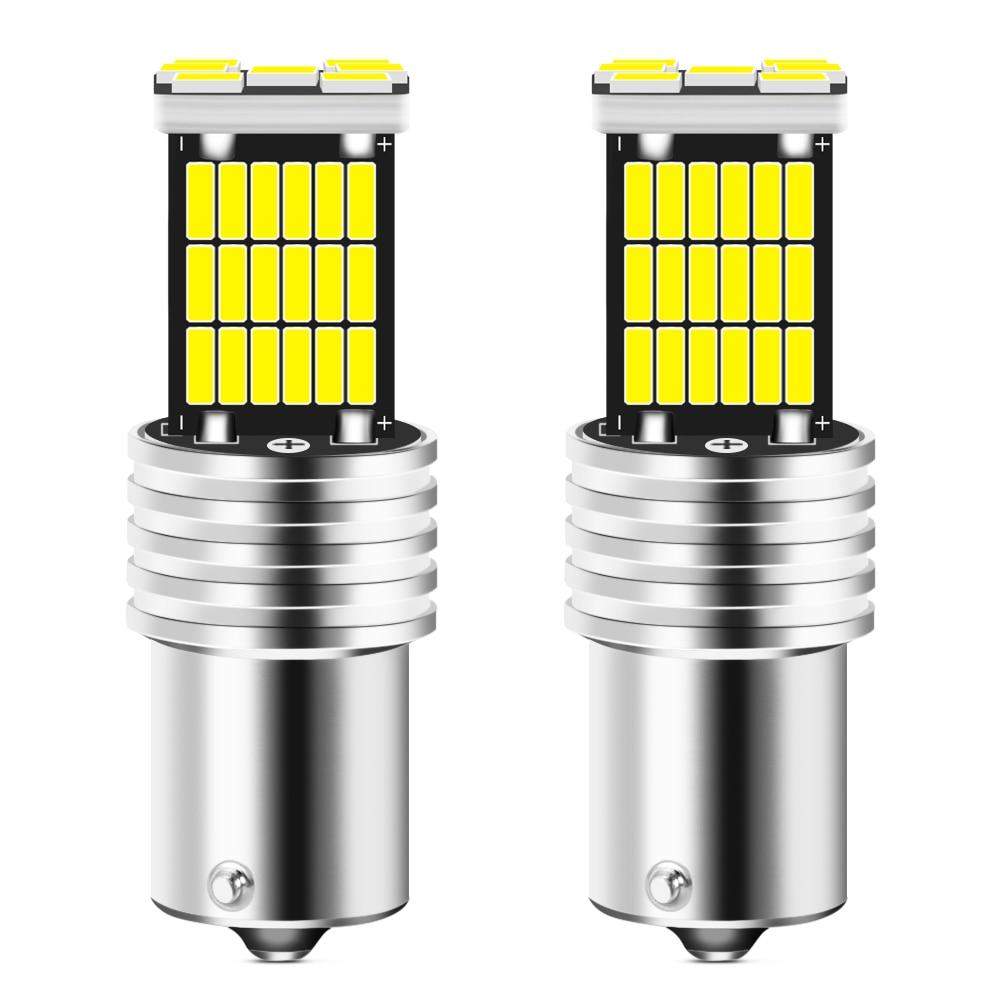 Lâmpada led para carro, 2 peças ba15s p21w 1156 luz reversa para renault megane 2 3 duster logan clio 4 3 laguna 2 sandero scenic 2
