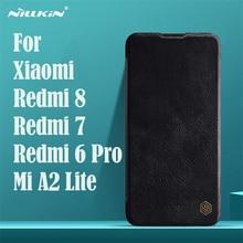 Para Xiaomi Redmi 8 7 6 Pro Flip caso Nillkin Qin Vintage cubierta de tirón de cuero bolsillo tarjeta caso para Xiaomi mi A2 Lite teléfono bolsas