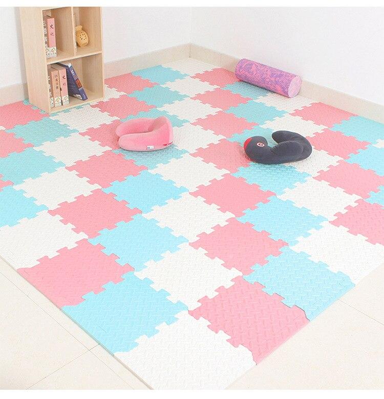 30*30cm esteras de juego de espuma EVA para bebés esteras de empalme de PE esteras de juegos para niños decoración de la habitación de los niños almohadilla temática de hoja de Color puro