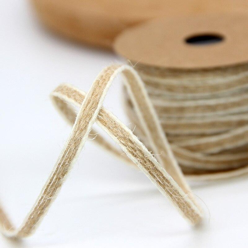 10M, rollos de yute de arpillera, cinta de arpillera, decoración rústica de boda, decoración de fiesta, cinta artesanal, material de costura para decoración de boda