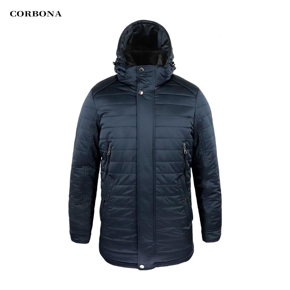 CORBONA 2021 Oversize Winter Windproof Men's 100% Cotton Jacket Detachable Hat Real Mink Fur Collar Outdoor Male Warm Long Coat