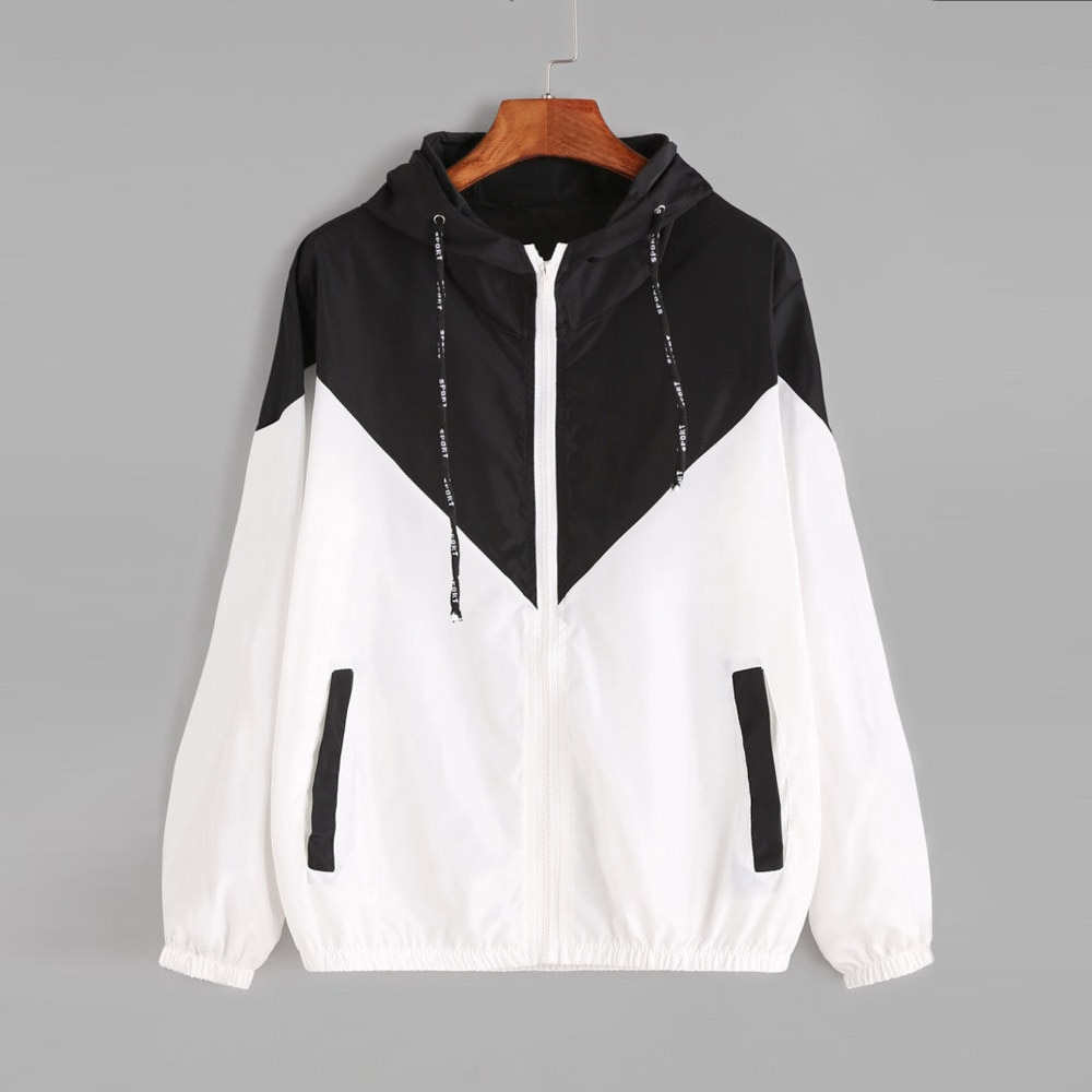 Chaqueta deportiva de manga larga con bolsillos y capucha para Mujer, chaqueta...