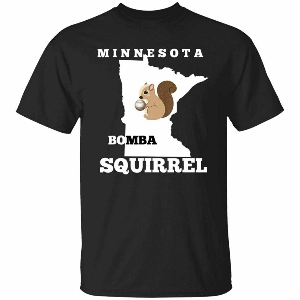 Minnesota Bomba Squirrell divertido regalo de béisbol camiseta S-3Xl camiseta divertida