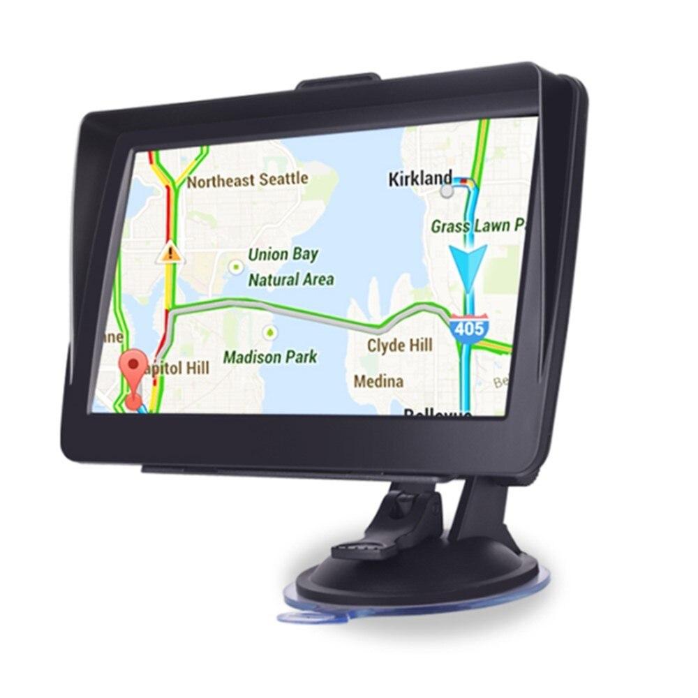 Автомобильный навигатор 7 дюймов 8 Гб HD экран автомобильный GPS Голосовые подсказки автомобильная навигация с картой Европы Северная Америка...
