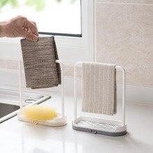 Handtuch Schwamm Seife Halter Ablauf Lagerung Rack Regal Lappen Halter Geschirrtuch Hängen Rack Küche Bad Desktop Waschbecken Organizer