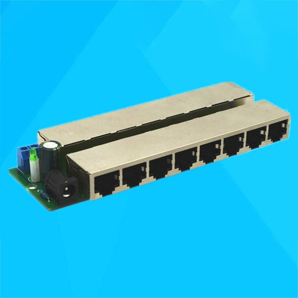 12-48 в 8 портов CCTV, инжектор, сплиттер Ethernet POE, модуль, сетевая цепь, мост, слабый источник электропитания, центральный блок